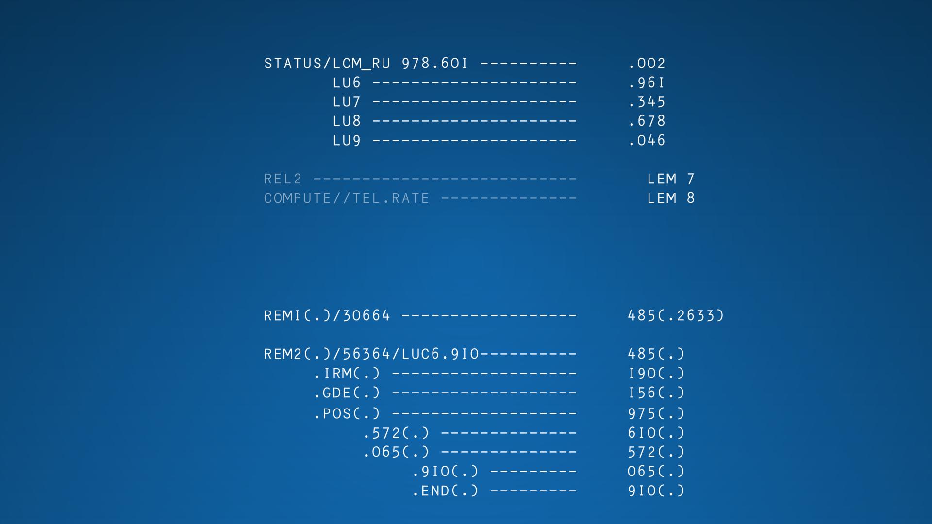 HAL 9000 status screen – Eclectic Imaging